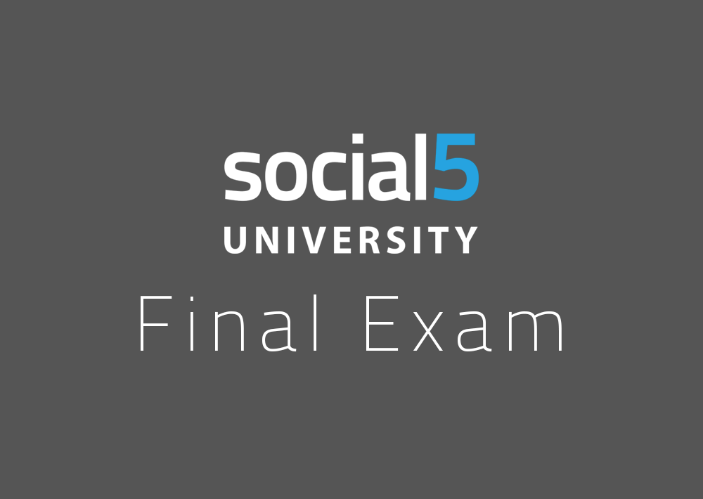 FINAL EXAM: Social Media Marketer