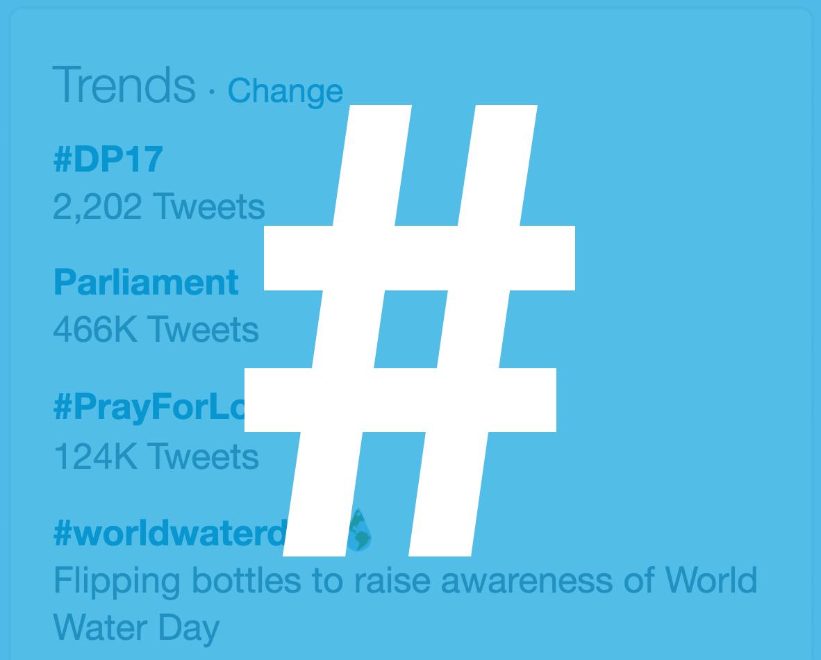 Taking Advantage of Trending Hashtags